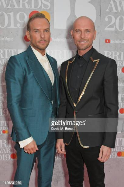 Matt Goss and Luke Goss arrive at The BRIT Awards 2019 held at The O2 Arena on February 20 2019 in London England