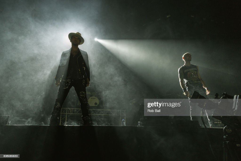 Matt Goss and Luke Goss from Bros perform at The O2 Arena on August 20, 2017 in London, England.