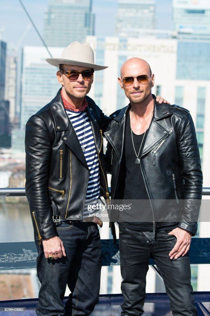 Matt Goss and Luke Goss of boyband BROS during a photocall at The O2 Arena on August 11, 2017 in London, England. BROS will be performing at The O2 on the 19th and 20th of August.