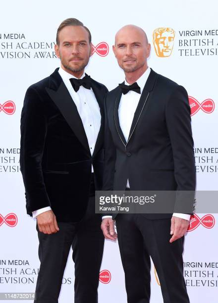 Matt Goss and Luke Goss of Bros attend the Virgin Media British Academy Television Awards 2019 at The Royal Festival Hall on May 12 2019 in London...