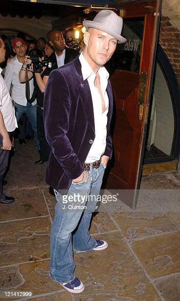 Matt Goss during Barrie Knight and Gary Wallis 40th Birthday Party at Villers Theatre in London Great Britain