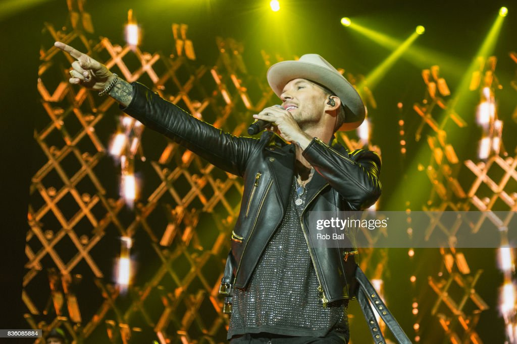 Matt Goss from Bros performs at The O2 Arena on August 20, 2017 in London, England.