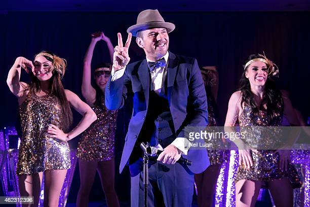 Matt Goss is interviewed backstage after performing a one off Emergency Show in The Dorchester Ballroom at the Dorchester Hotel with his Las Vegas...