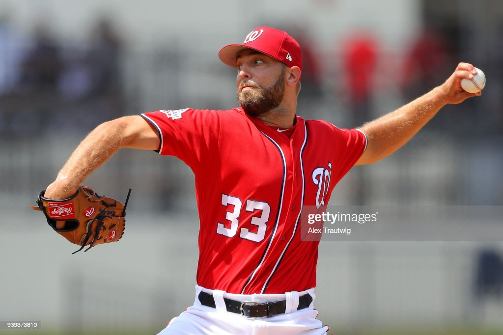 Matt Grace Of The Washington Nationals Pitches During The