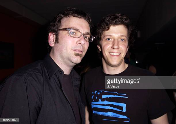 Matt Grady Producer and Chris Ronis plexifilm during 2003 Tribeca Film Festival Style Wars DVD Launch Party at bauhaus in New York City New York...