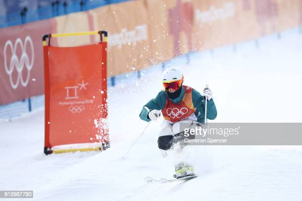 Matt Graham of Australia competes during the Men's Freestyle Skiing Moguls qualifying ahead of the PyeongChang 2018 Winter Olympic Games at Phoenix...