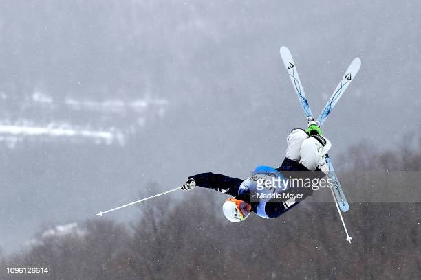 Matt Graham of Australia competes in the Men's Moguls Final during the FIS Freestyle Ski World Cup 2019 at Whiteface Mountain on January 18 2019 in...
