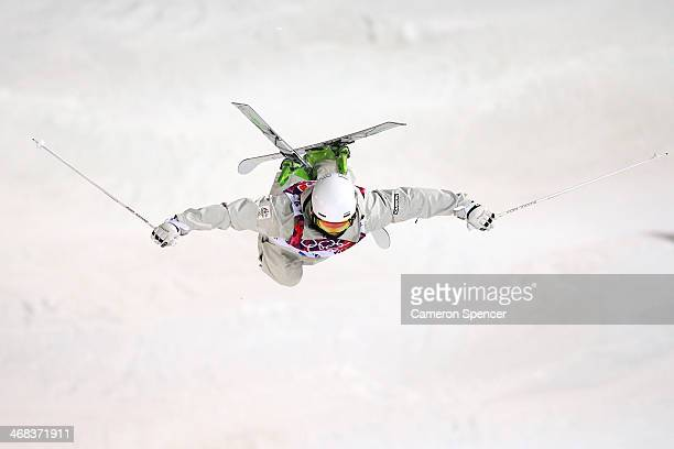 Matt Graham of Australia competes in the Men's Moguls Finals on day three of the Sochi 2014 Winter Olympics at Rosa Khutor Extreme Park on February...