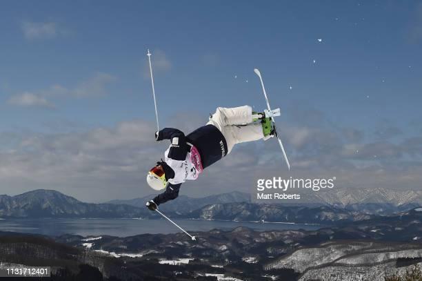 Matt Graham of Australia during day two of the Men's FIS Freestyle Skiing World Cup Tazawako on February 24 2019 in Senboku Akita Japan