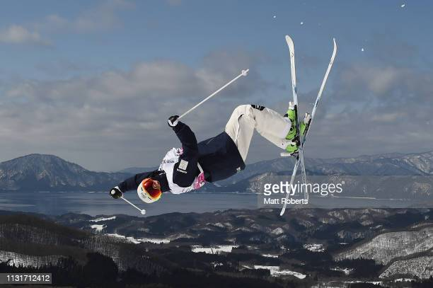 Matt Graham of Australia during day two of the Men's FIS Freestyle Skiing World Cup Tazawako on February 24 2019 in Senboku Akita Japan