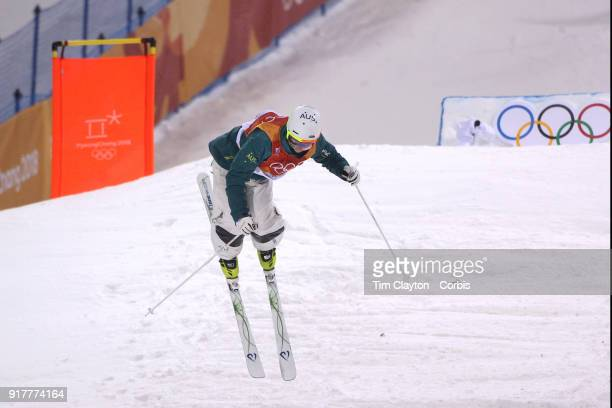 Matt Graham of Australia in action on his final run which won him the silver medal in the Freestyle Skiing Men's Moguls competition at Phoenix Snow...