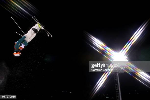 Matt Graham of Australia warms up ahead of the Freestyle Skiing Men's Moguls Final on day three of the PyeongChang 2018 Winter Olympic Games at...