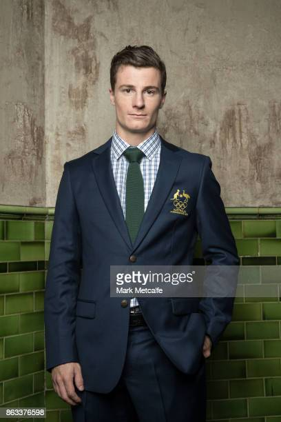 Matt Graham poses ahead of the Australian Olympic Committee 2018 Winter Olympic Games uniform launch at The Palisade Hotel on October 20 2017 in...