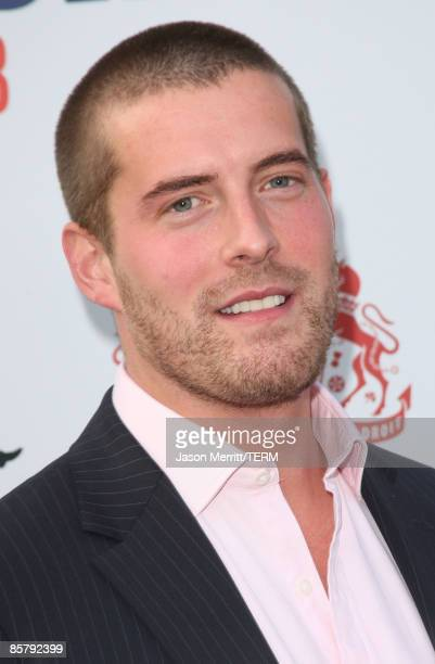 Matt Grant arrives to the champagne launch of BritWeek at the Consul General's Official Residence in Los Angeles, California, on April 24, 2008.Ê