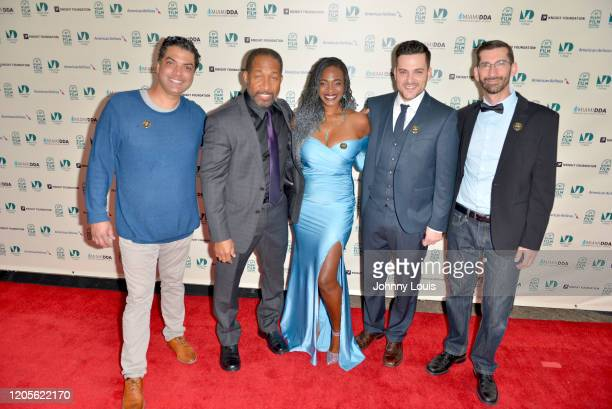 Matt Greene Owen Miller Katana Malone Director JR Poli and Jose Luis Martinez from feature film 'Marcus' are seen during 37th Annual Miami Film...