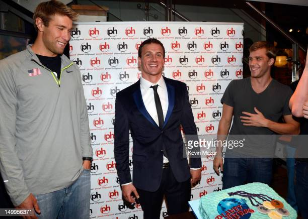 Matt Grevers Ryan Lochte and Nick Thoman attends Arluck Promotions and Wright Entertainment Sport present their athlete celebration party at Planet...