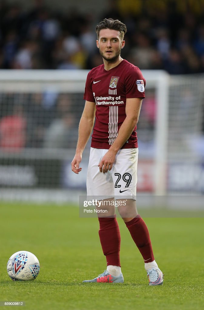 Matt Grimes of Northampton Town in action during the Sky Bet League One match between Northampton Town and Bristol Rovers at Sixfields on October 7, 2017 in Northampton, England.
