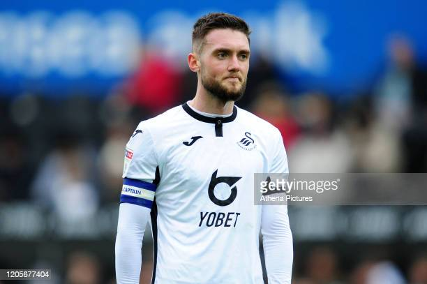 Matt Grimes of Swansea City during the Sky Bet Championship match between Swansea City and West Bromwich Albion at the Liberty Stadium on March 07...