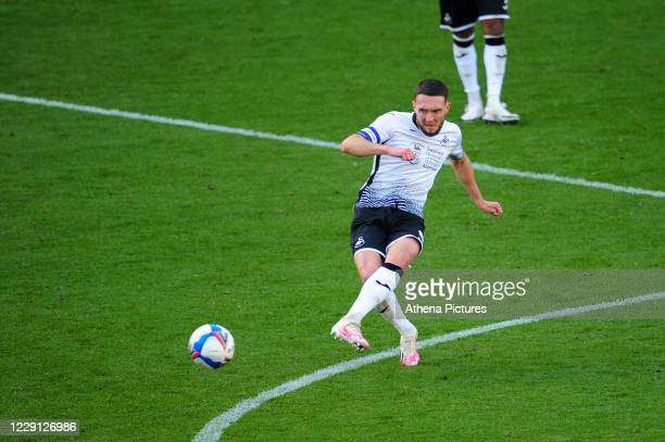 Matt Grimes of Swansea City in action during the Sky Bet Championship match between Swansea City and Huddersfield Town at the Liberty Stadium on...