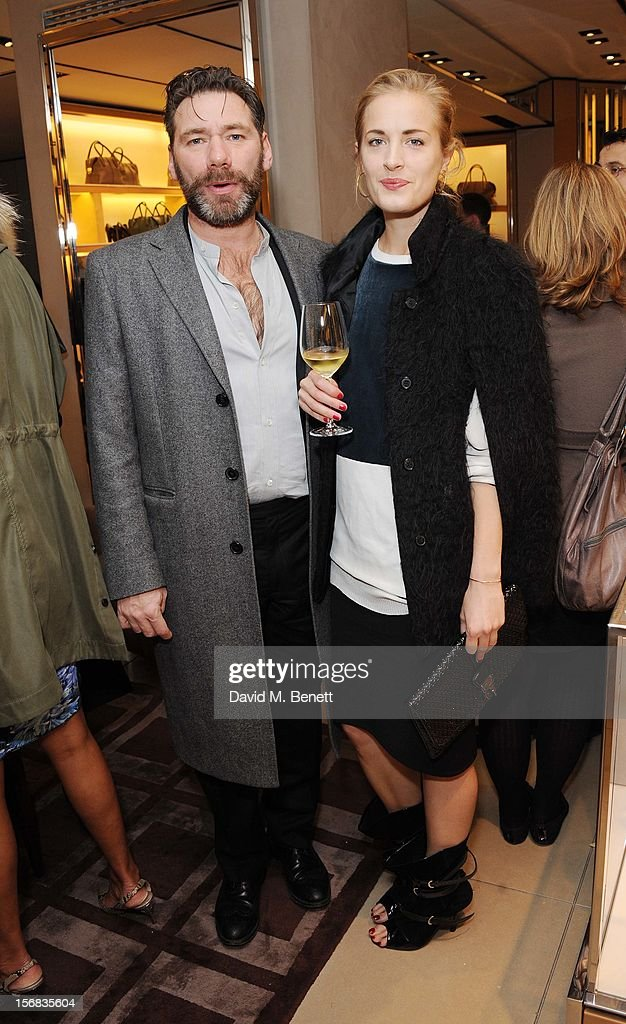 Matt Grishaw and Polly Morgan attends 'Tod's Vendanges on Bond' at the Tod's Bond Street Boutique on November 22, 2012 in London, England.
