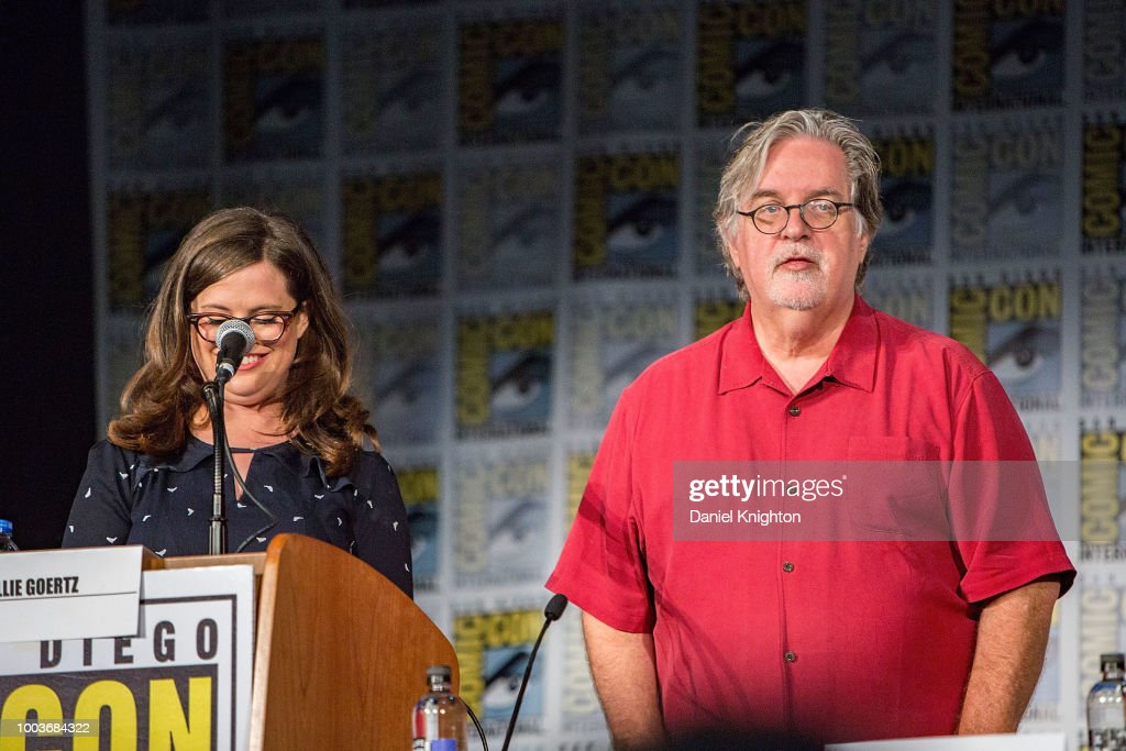 c05ddbed27fc23 Matt Groening and Allie Goertz attend the Disenchantment panel at ...