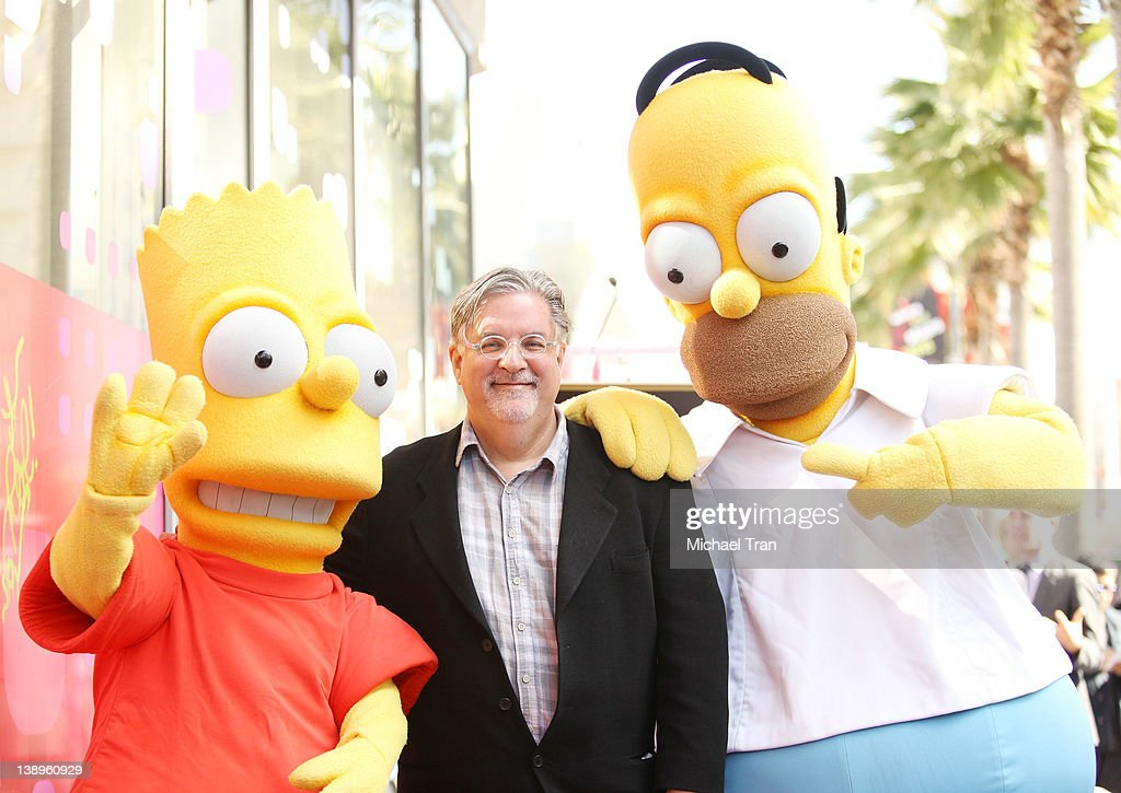 "Matt Groening Celebrates 500th Episode Of ""The Simpsons"" With Star On The Hollywood Walk Of Fame"