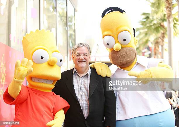 Matt Groening attends the ceremony honoring him with a Star on The Hollywood Walk of Fame on February 14 2012 in Hollywood California