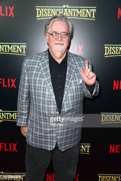 Billy West Maurice LaMarche David Herman Nat Faxon Eric Andre and Matt Groening attend the screening of Netflix's 'Disenchantment' at the Vista...