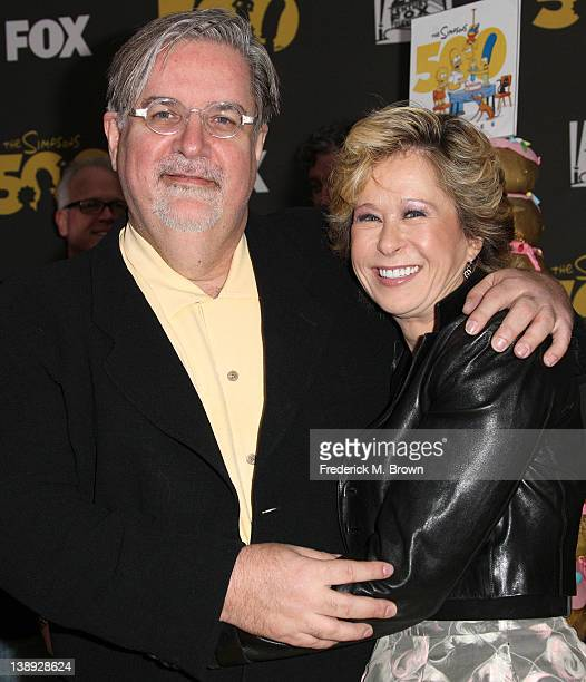 Matt Groening creator/executive producer and actress Yeardley Smith attend FOX's The Simpsons 500th Episode Celebration at the Hollywood Roosevelt...