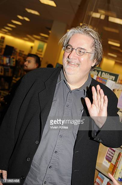 Matt Groening Signs Copies Of His Book 'Simpsons World The Ultimate Episode Guide' at Barnes Noble bookstore at The Grove on November 17 2010 in Los...