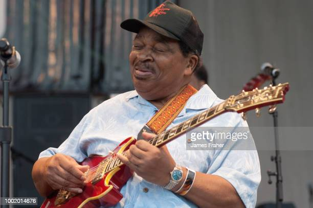 Matt Guitar Murphy performs on stage at The Chicago Blues Festival on June 11 2010 in Chicago Illinois United States