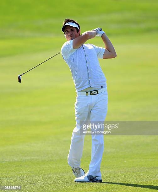 Matt Haines of England in action during the second round of the Commercialbank Qatar Masters held at Doha Golf Club on February 4 2011 in Doha Qatar