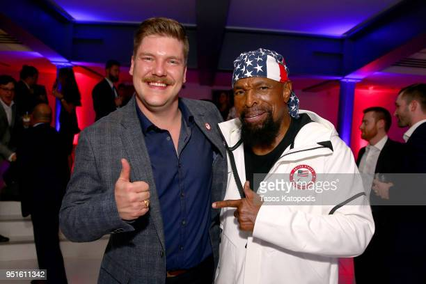 Matt Hamilton and Mr T attend the Team USA Awards at the Duke Ellington School of the Arts on April 26 2018 in Washington DC