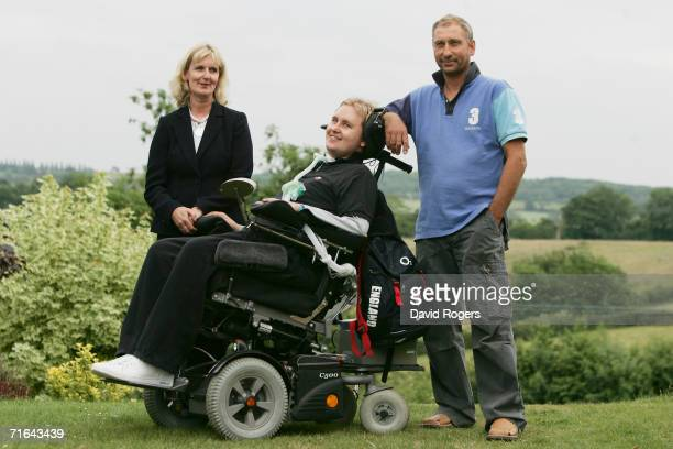 Matt Hampson the former Leicester Tigers and England Rugby player who was paralysed from the neck down during a scrum which collapsed upon him during...