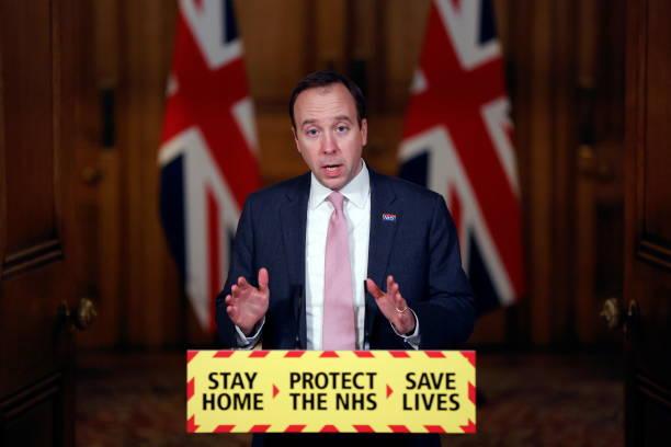 GBR: Matt Hancock Speaks At Downing Street Covid Press Conference