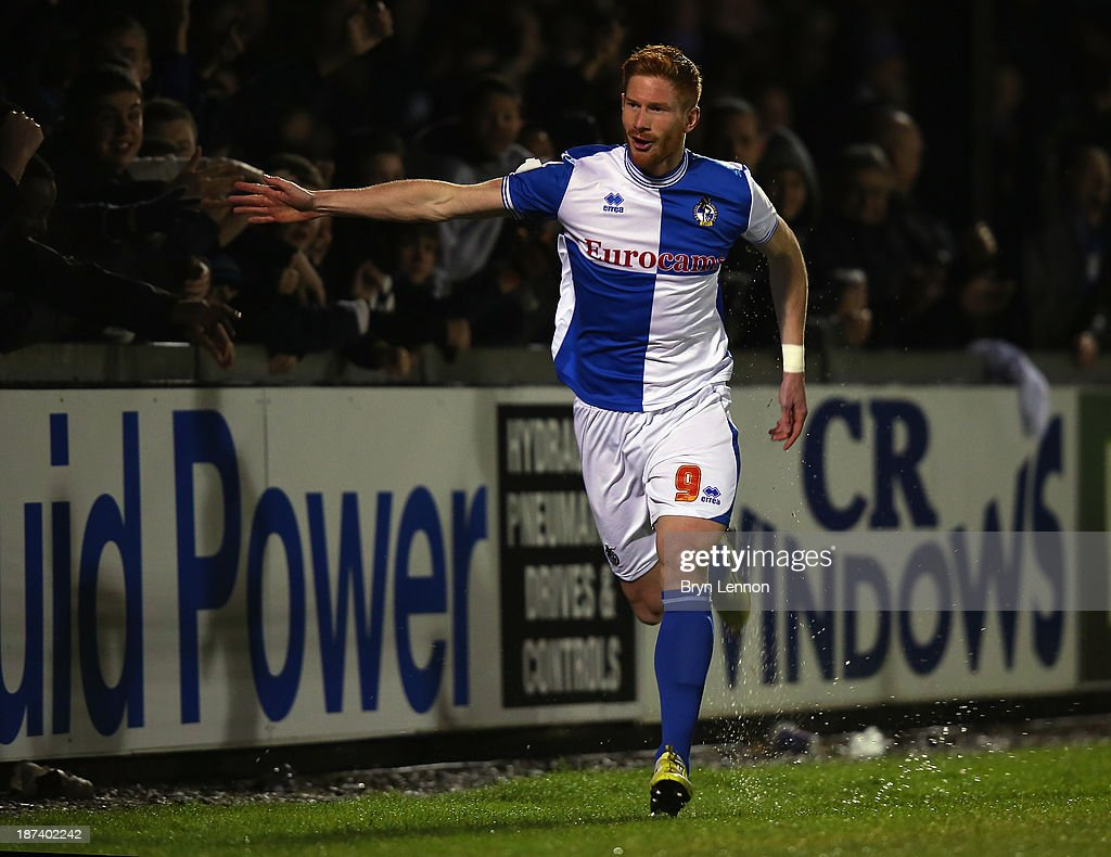 Matt Harrold of Bristol Rovers celebrates scoring during the FA Cup... News  Photo - Getty Images