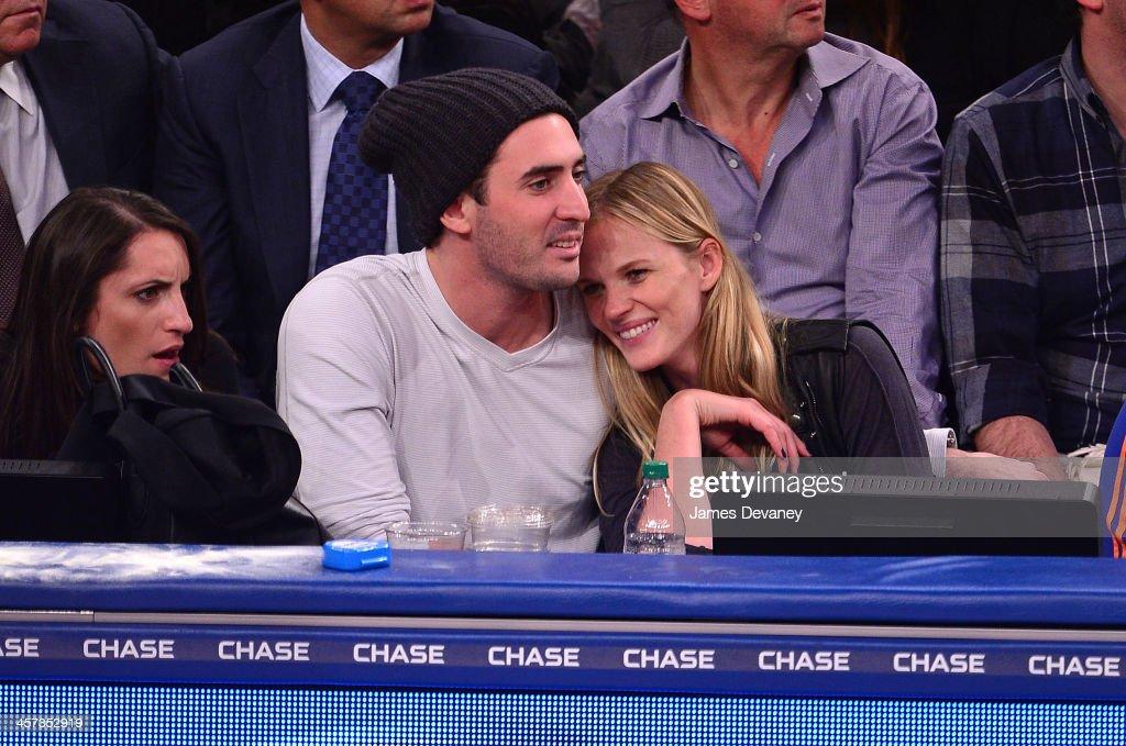 Matt Harvey and Anne V attend the Washington Wizards vs New York Knicks game at Madison Square Garden on December 16, 2013 in New York City.
