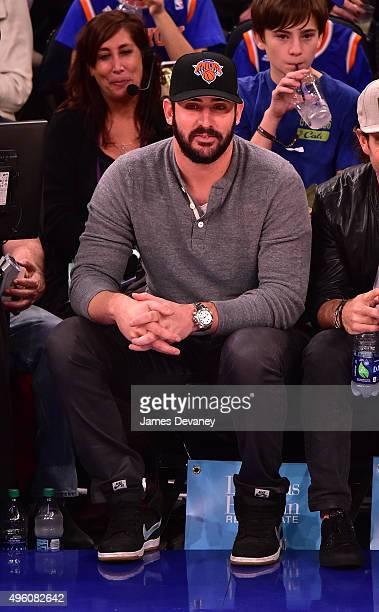Matt Harvey attends New York Knicks vs Milwaukee Bucks game at Madison Square Garden on November 6 2015 in New York City