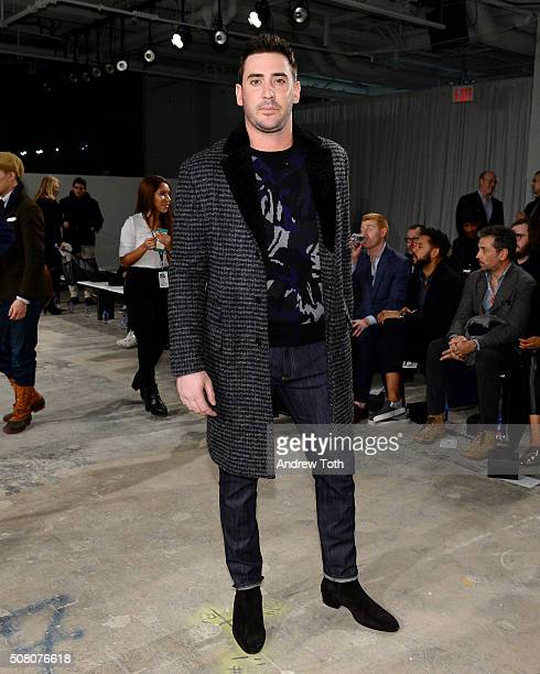Matt Harvey is seen front row during Ovadia Sons New York Fashion Week Men's Fall/Winter 2016 at Skylight at Clarkson Sq on February 2 2016 in New...
