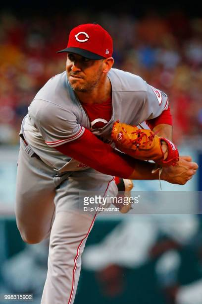 Matt Harvey of the Cincinnati Reds pitches against the St Louis Cardinals in the first inning at Busch Stadium on July 13 2018 in St Louis Missouri