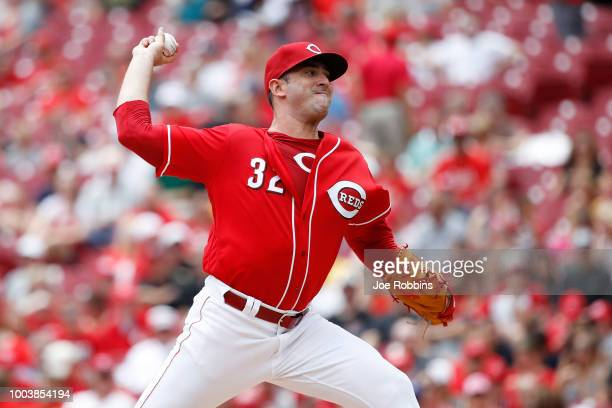 Matt Harvey of the Cincinnati Reds pitches in the second inning against the Pittsburgh Pirates at Great American Ball Park on July 22 2018 in...