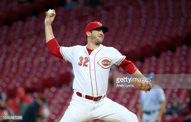 Matt Harvey of the Cincinnati Reds throws a pitch against the Kansas City Royals at Great American Ball Park on September 25 2018 in Cincinnati Ohio