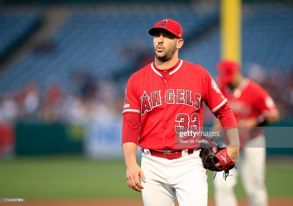 New York Yankees v Los Angeles Angels of Anaheim : Nachrichtenfoto