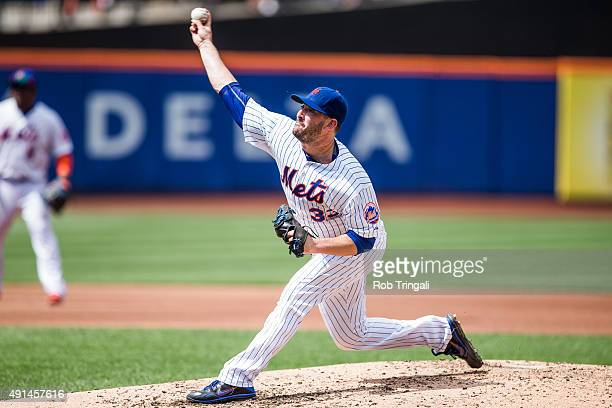 Matt Harvey of the New York Mets pitches during the game against the Pittsburgh Pirates at Citi Field on August 16 2015 in the Queens borough of New...