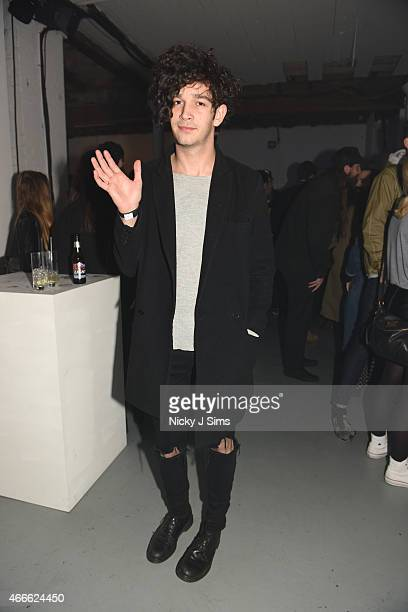 Matt Healy attends Converse Made by You Live with Swim Deep on March 17 2015 in London England