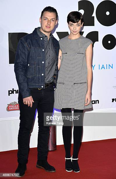 Matt Helders and Breana McDow attend the 20000 Days on Earth screening at Barbican Centre on September 17 2014 in London England