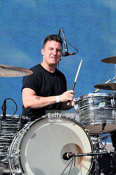 Matt Helders performs in concert with The Arctic Monkeys during the Free Press Summer Festival at Eleanor Tinsley Park on June 1 2013 in Houston Texas