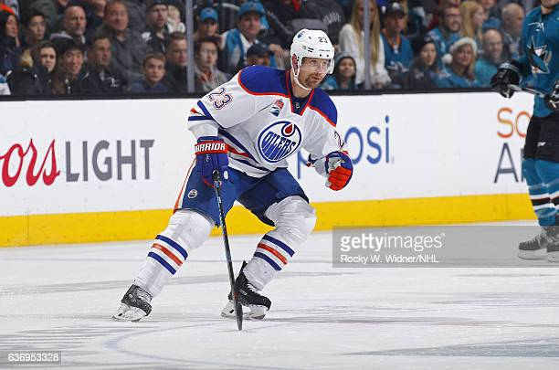 Matt Hendricks of the Edmonton Oilers skates against the San Jose Sharks at SAP Center on December 23 2016 in San Jose California