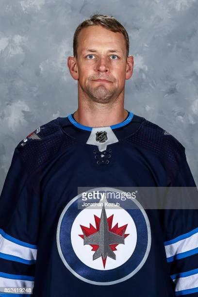 Matt Hendricks of the Winnipeg Jets poses for his official headshot for the 20172018 season on September 14 2017 at the Bell MTS Iceplex in Winnipeg...