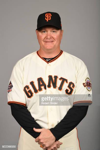 Matt Herges of the San Francisco Giants poses during Photo Day on Tuesday February 20 2018 at Scottsdale Stadium in Scottsdale Arizona